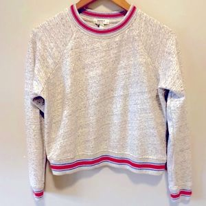 Forever 21 Preppy Crewneck Cropped Sweater
